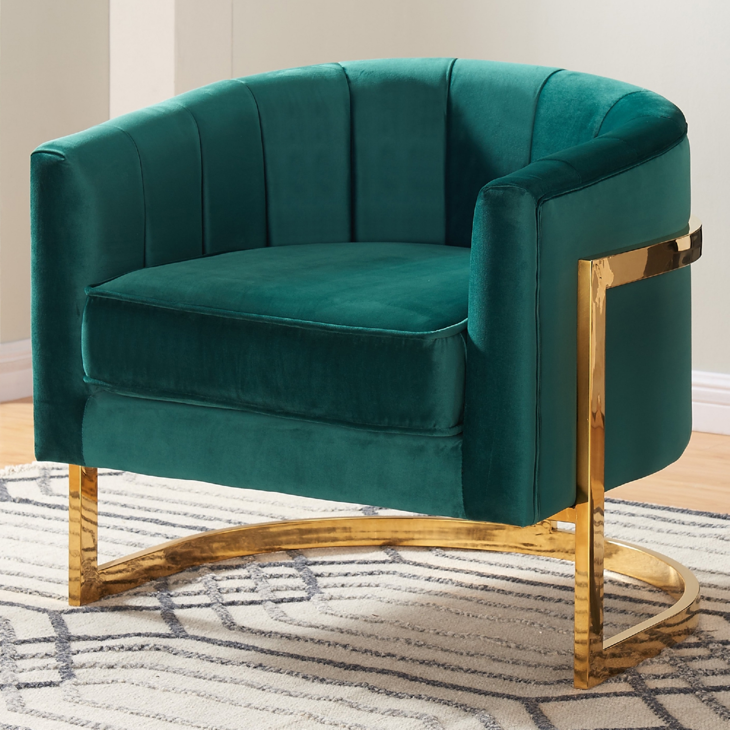 Meridian Furniture 515Green Carter Accent Chair in Green