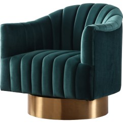 Green Velvet Swivel Chair Irving Leather Reviews Meridian Furniture 520green Farrah Accent In Tufted