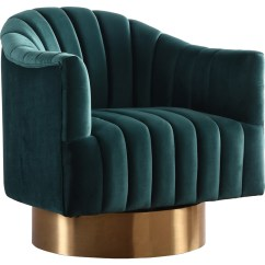 Green Velvet Swivel Chair Banquet Chairs Covers Meridian Furniture 520green Farrah Accent In Tufted