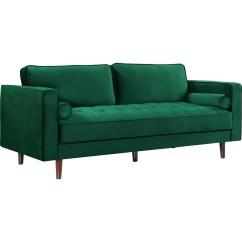 Emerald Green Velvet Sofa Bed American Set Meridian Furniture 625green S Emily In Tufted