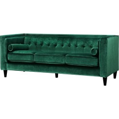 Sofa Bed Green Velvet Traditional Leather Meridian Furniture 642green S Taylor W
