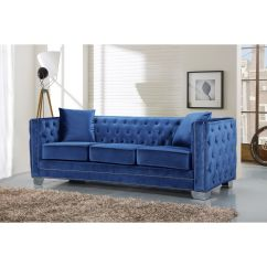 Electric Blue Velvet Sofa Bright Colored Beds Meridian Furniture 648ltblu S Reese Light