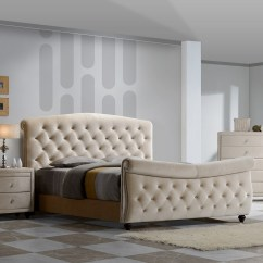 Chloe On Tufted Velvet Sofa Long Table With Storage Meridian Furniture Diamond-sleigh-q Diamond Queen Sleigh ...