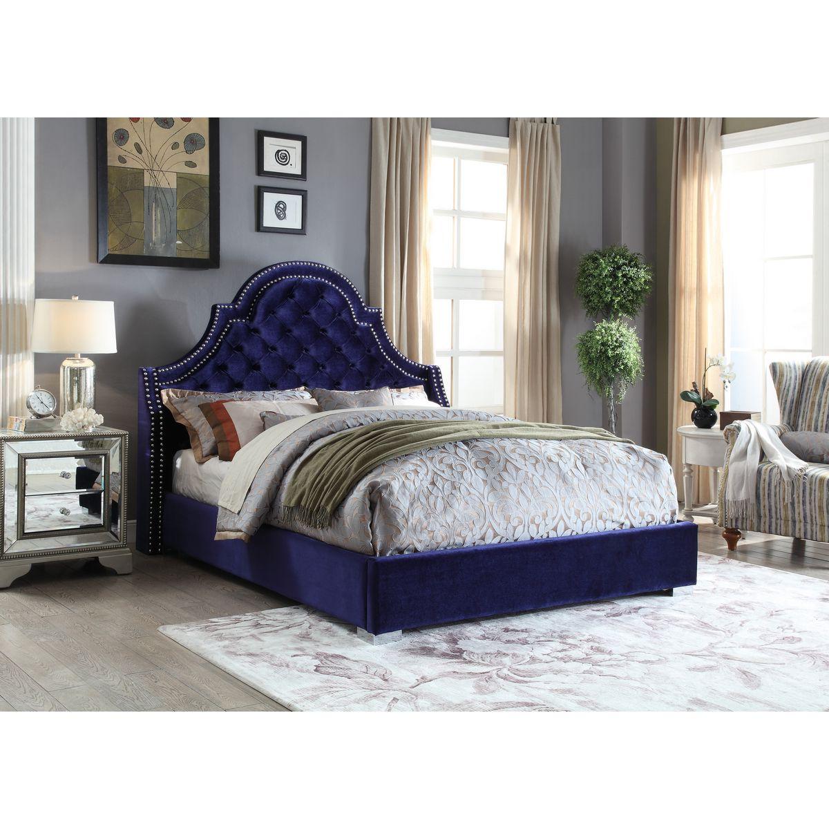 chloe on tufted velvet sofa set for hall room meridian furniture madisonnavy-q madison deep navy ...