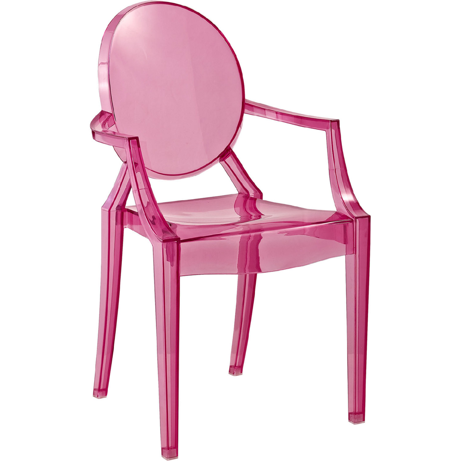 clear chair target rolling dining chairs modway eei 121k pnk casper kids in pink polycarbonate