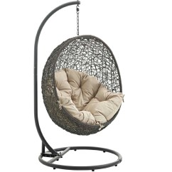 Hanging Chair Mr Price Zoella Modway Eei 2273 Gry Bei Hide Outdoor Patio Swing In