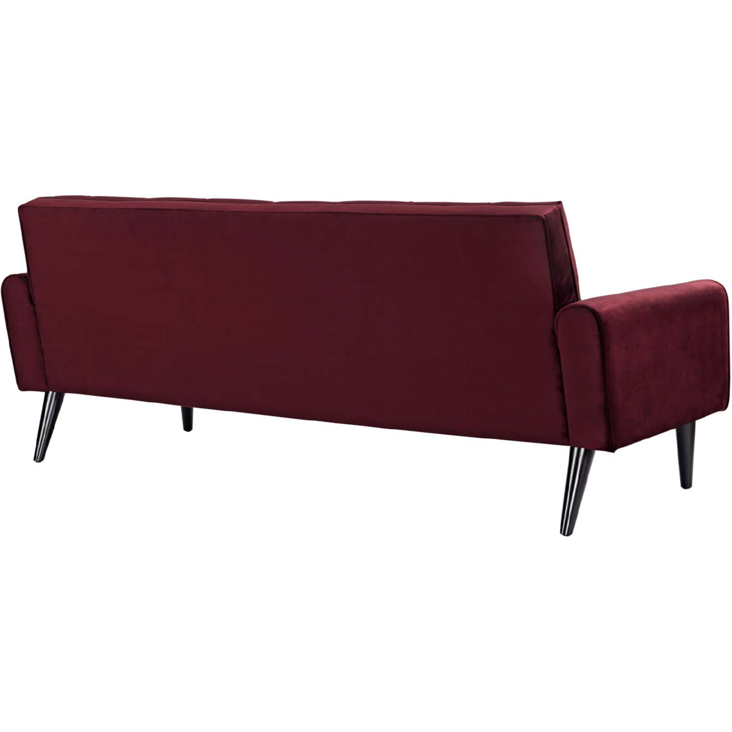 tufted button sofa simple wooden set images modway eei 2456 mar delve in maroon velvet on tap to expand