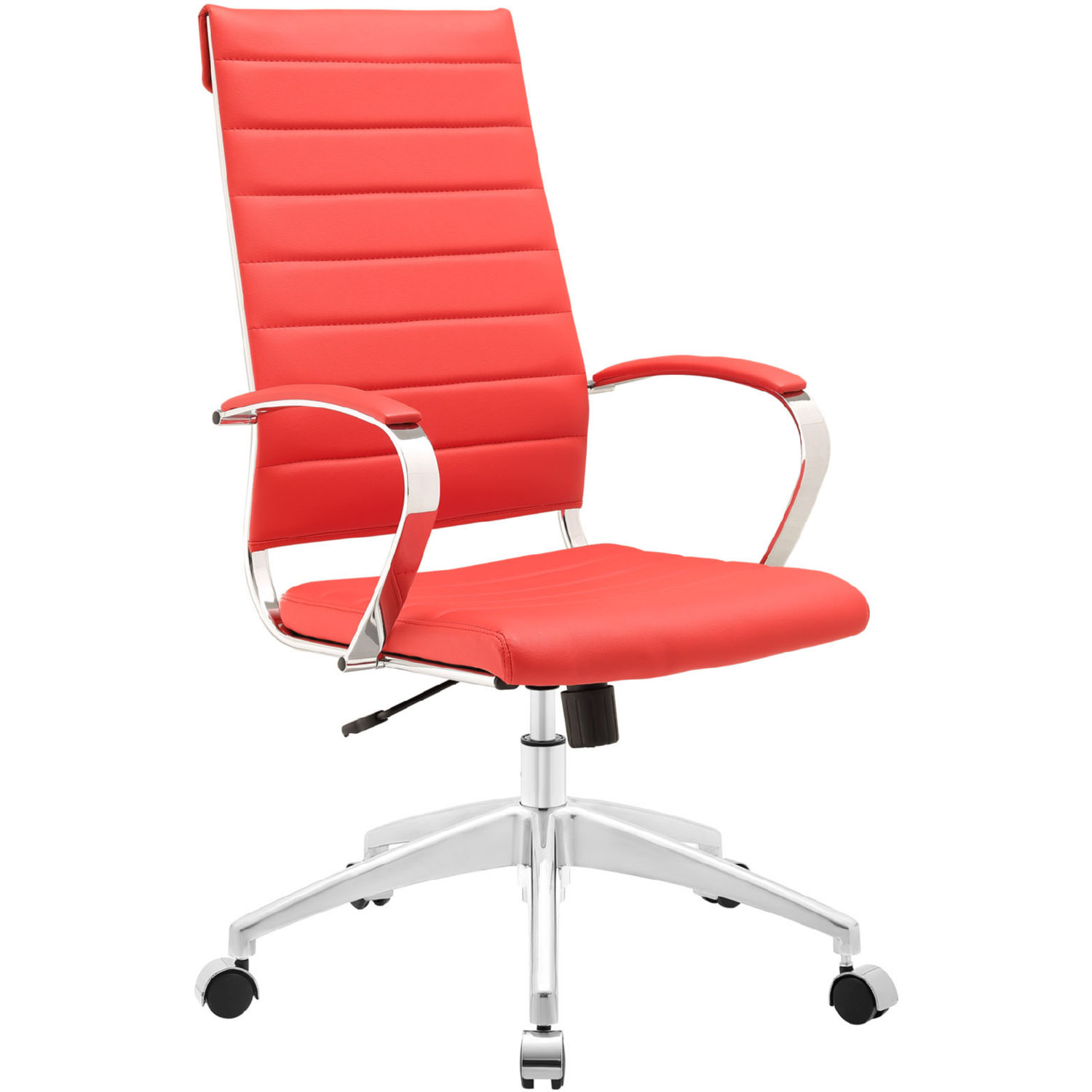 office chair red vintage vanity modway eei 272 jive high back in leatherette on chrome base