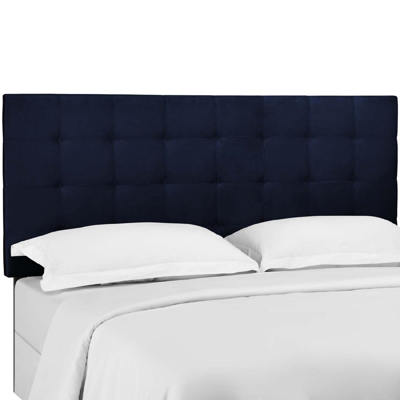 Modway Mod 5856 Mid Paisley King California King Headboard In Tufted Midnight Blue Velvet