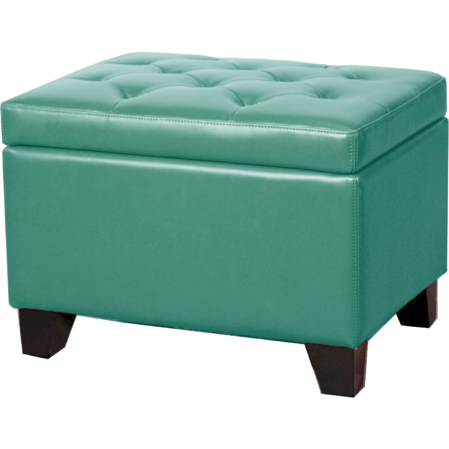 turquoise leather chair and ottoman hanging pod new pacific direct 194424b 323 julian rectangular storage