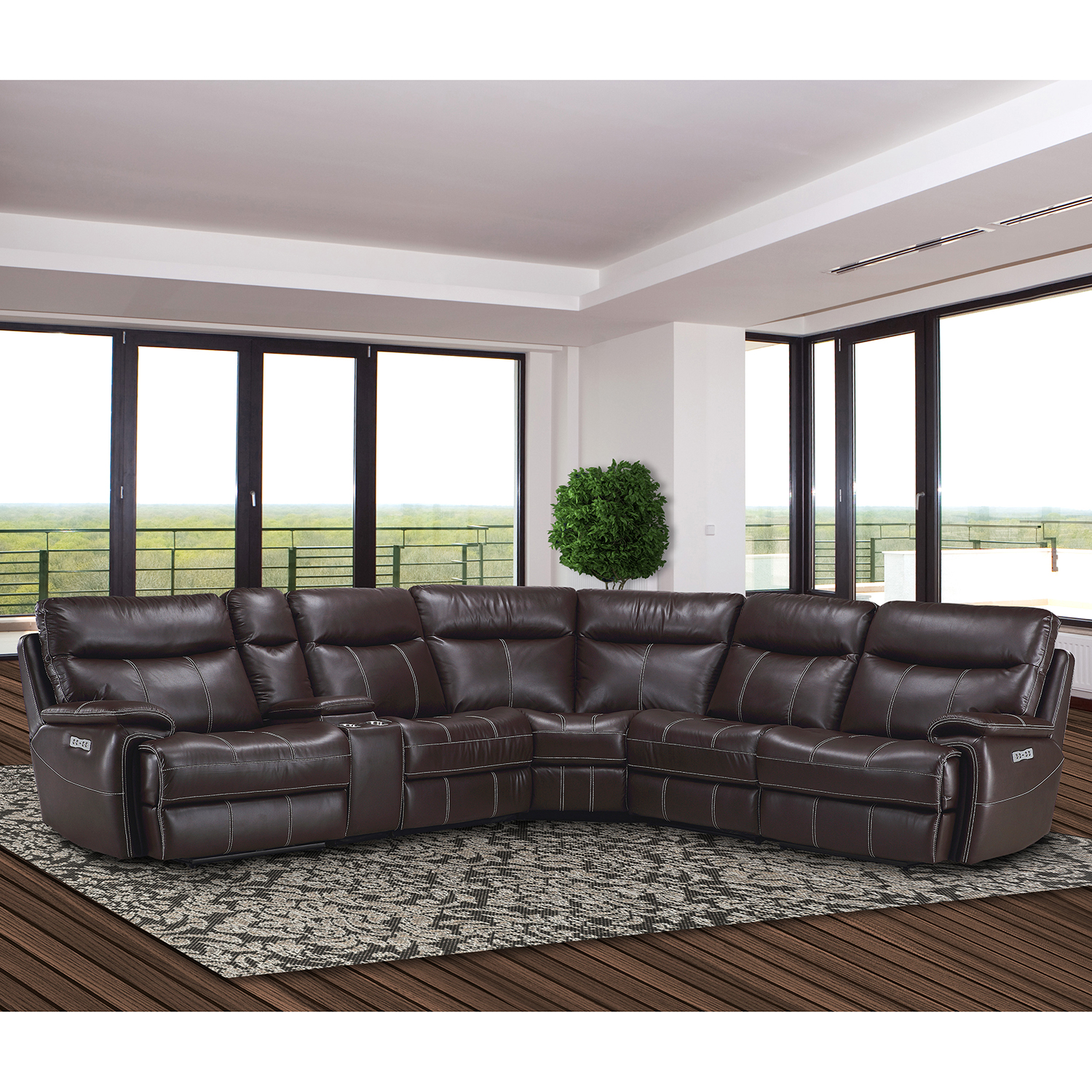 Parker House MDYL6PCSECTIONAL Dylan 6 Piece Sectional