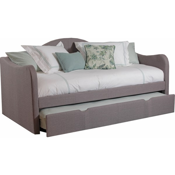 Powell 14s2019 Upholstered Daybed With Trundle In Taupe Fabric