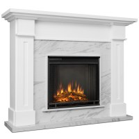 Electric Fireplace With Faux Marble - Fireplace Ideas