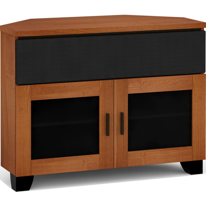Salamander Designs C El329cr Ac Elba 329cr 44 Extra Tall Corner Tv Stand Cabinet W Center Speaker Opening In American Cherry
