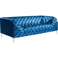 Electric Blue Velvet Sofa Wood Set In Chennai Zuo Modern Furniture 900282 Providence Tufted