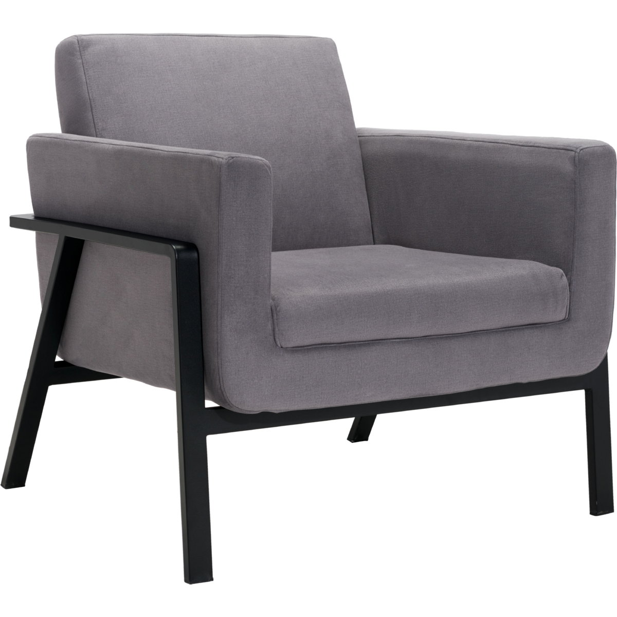 zuo swivel chair french dining chairs uk modern furniture 100765 homestead lounge in gray