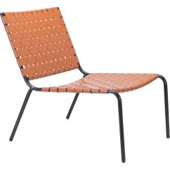 Pvc Lounge Chair Bench Height Zuo 703903 Beckett Outdoor In Tan Steel