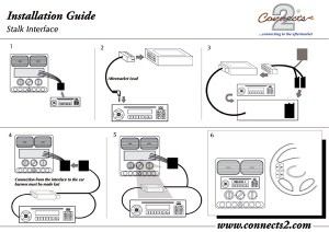 Connects2 CTSRN003  Renault Clio, Megane, Scenic, Laguna II, Modus Steering Wheel Stalk Adaptor