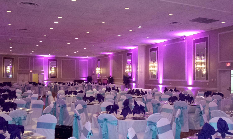 Reception Uplighting Dynamic Sounds Wedding Djs