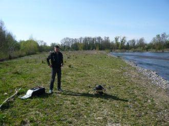 Préparatif pour une campagne de survol du projet en drone