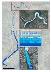 Cartographie générale de l'Ardèche au droit du seuil des Brasseries + Compartiments des tronçons
