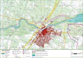 Cartographie générale des principaux enjeux sur la zone d'étude