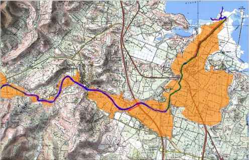 Cartographie dans le cadre de l'étude hydrogéomorphologique de la Berre