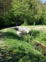 Visite post-travaux : l'ouvrage de prise d'eau de la rivière de contournement sur la Chaise en Haute-Savoie
