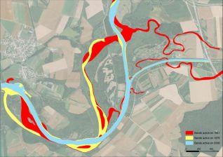 cartographie des bandes actives historiques de la confluence dans le cadre de notre expertise hydromorphologique