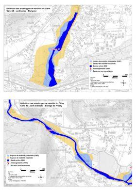 GIFFRE - Géomorphologie - Cartographie des enveloppes de mobilités du Giffre