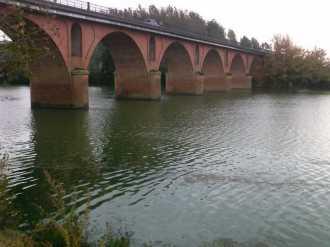 GARONNE - Diagnostic sédimentaire : Pont sur la Garonne au droit du barrage de Golfech