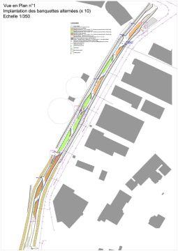LANGE - Réhabilitation écologique : plan masse autocad du projet PRO