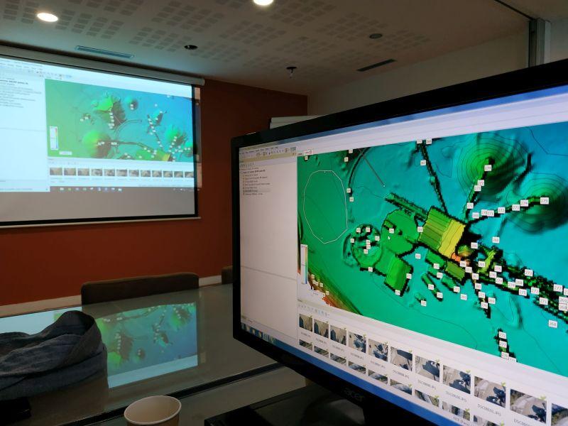 Formation photogrammétrie : vue d'un écran d'ordinateur