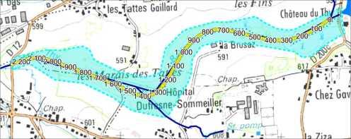 TATTES - Hydrologie : cartographie du linéaire de la zone étudiée
