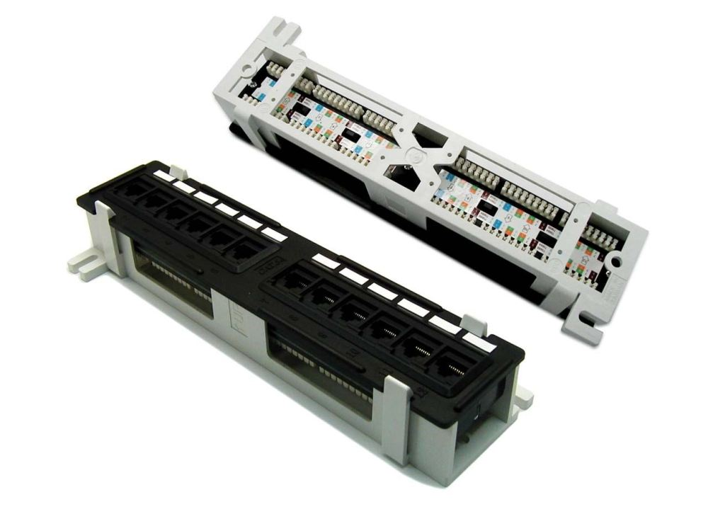medium resolution of picture of dynamix mini 12 port patch panel cat6 t568a t568b wiring