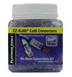 picture of platinum tools cat6 ez rj45 plug easy install rj45 plug for cat6 [ 1000 x 1000 Pixel ]