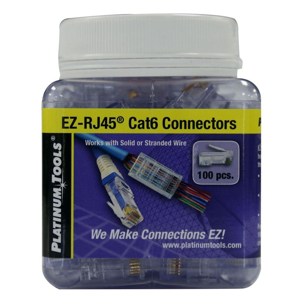 hight resolution of picture of platinum tools cat6 ez rj45 plug easy install rj45 plug for cat6