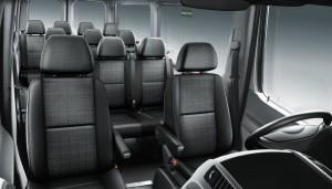 Inside Mercedes Sprinter Van