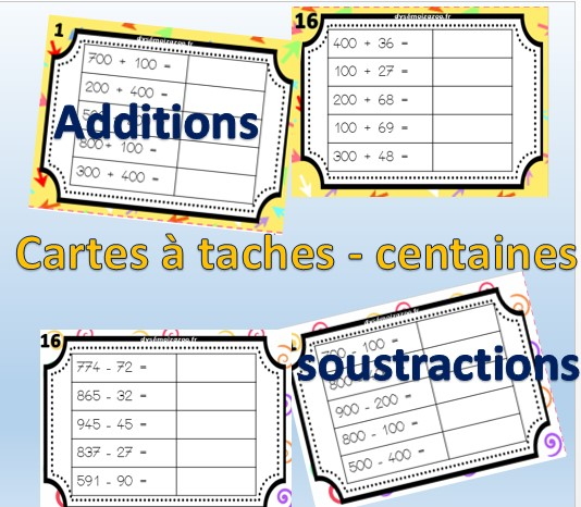 carte-tache-pince-centaine-exercices-fiche-addition-soustraction