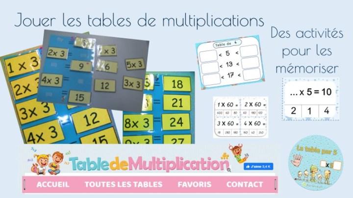 jouer les tables de multiplication pour les mémoriser