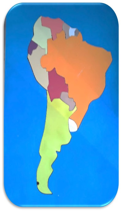 carte bois Amérique du SUD et continents