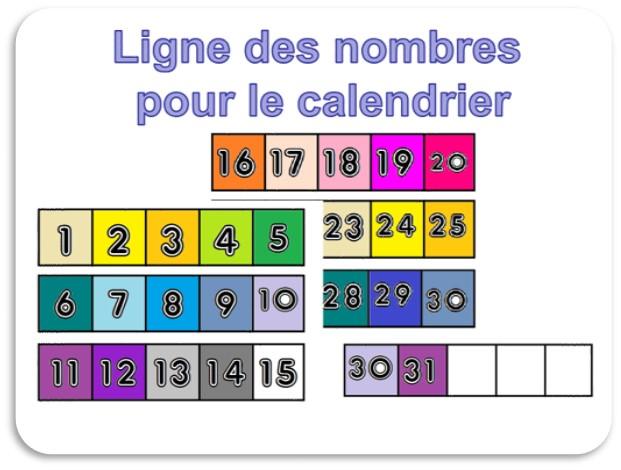 Ligne des nombres jusque 100 aux couleurs Cuisenaire