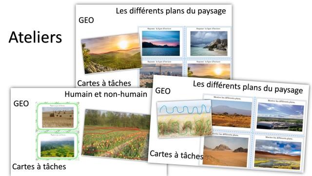 Géographie travailler le paysage en cartes à tâches