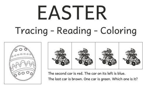 EasterReadingColoring