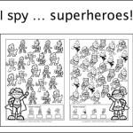New freebie: I spy … superheroes!