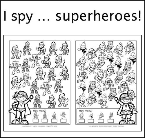 New Freebie I Spy Superheroes American Dyslexia Association