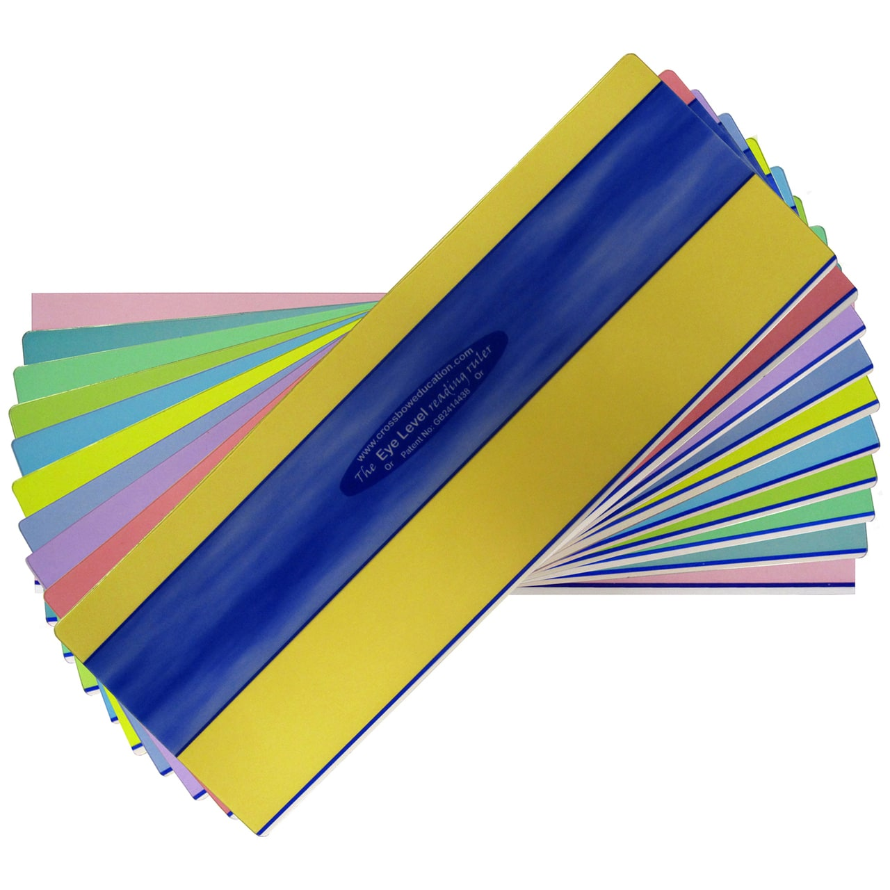 10 Pack Duo Window Reading Rulers One Of Each Colour