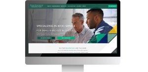 fisher homepage on desktop