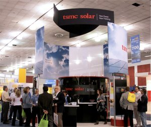 TSMC solar booth at convention