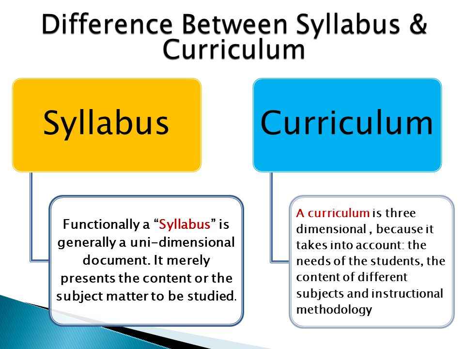 english teacher  difference between syllabus and curriculum
